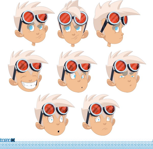 Some head shots of Abel concept 4.  Unfortunately this project didn't proceed.