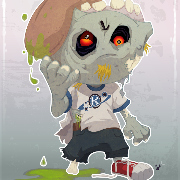 I love lil Zombies. Created in Adobe Illustrator.