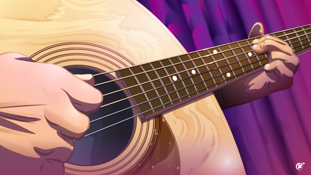 Acoustic Guitar created in Adobe Illustrator