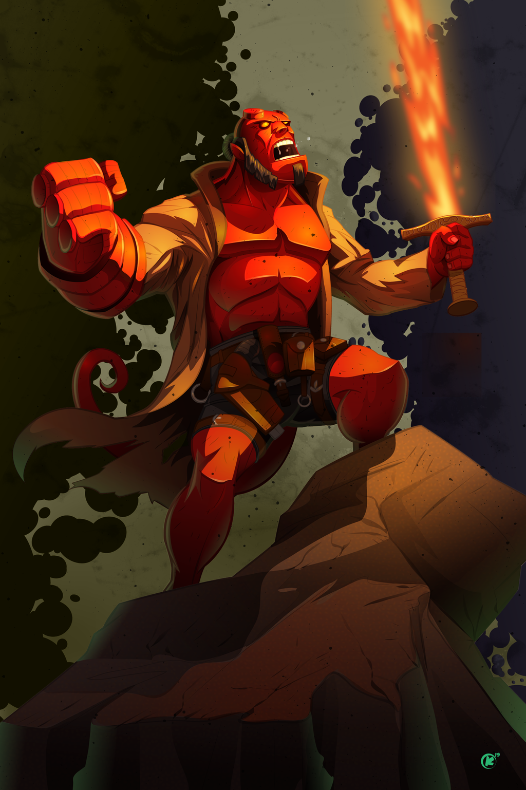 Hellboy fanart created in adobe illustrator