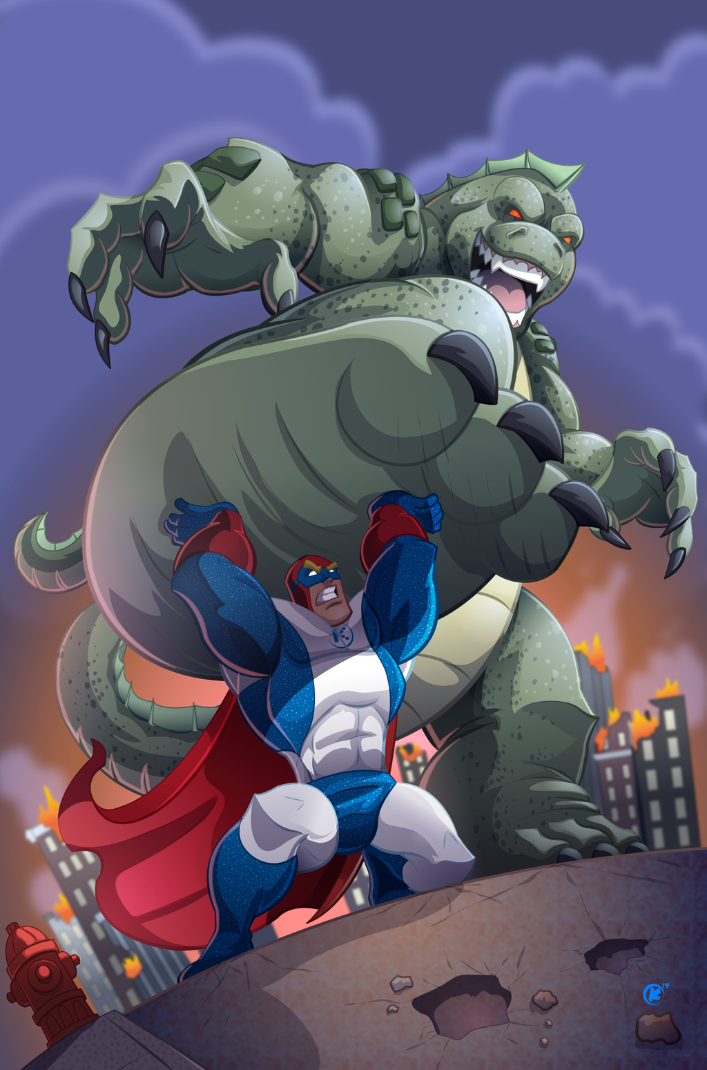superhero vs Monster